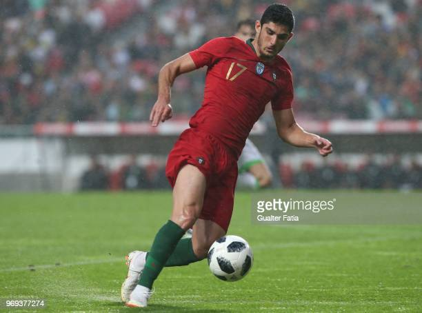 Portugal and Valencia FC forward Goncalo Guedes in action during the International Friendly match between Portugal and Algeria at Estadio da Luz on...
