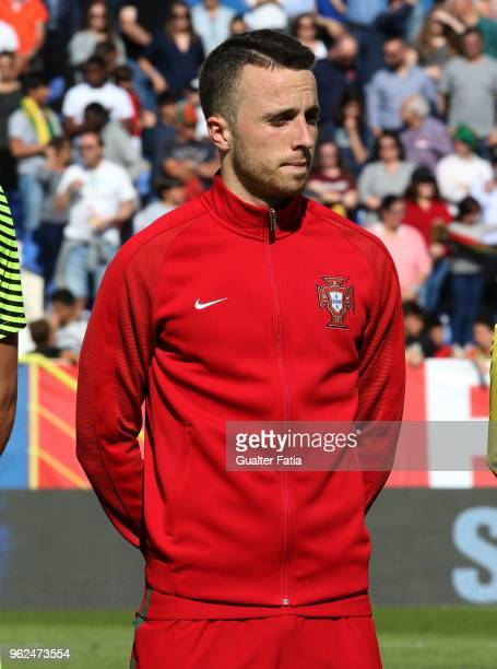 Portugal and Wolverhampton Wanderers forward Diogo Jota before the start of the U21 International Friendly match between Portugal and Italy at...