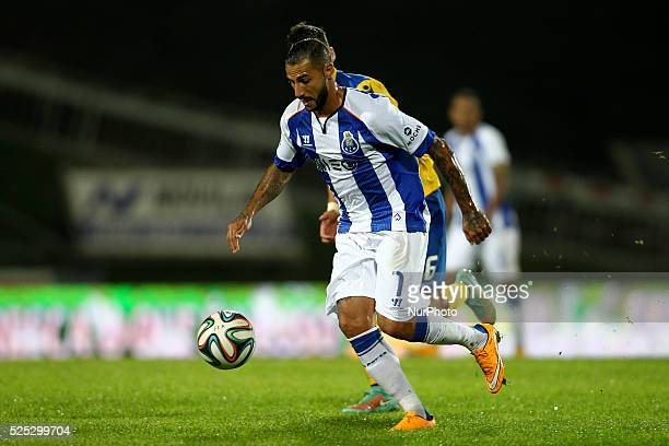 Porto's Portuguese forward Ricardo Quaresma during the Premier League 2014/15 match between FC Arouca and FC Porto at Municipal de Arouca Stadium in...