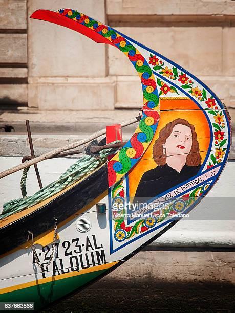 Portugal, Aveiro, Moliceiro boat - Amalia Rodrigues