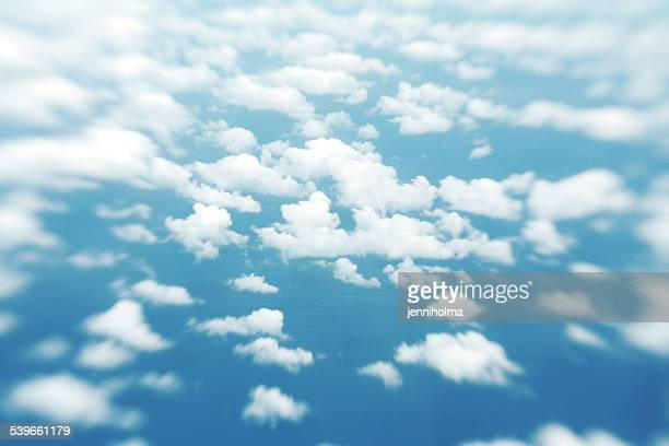 Portugal, Azores, Aerial view of clouds above sea