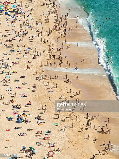 portugal beach - leiria district stock photos and pictures