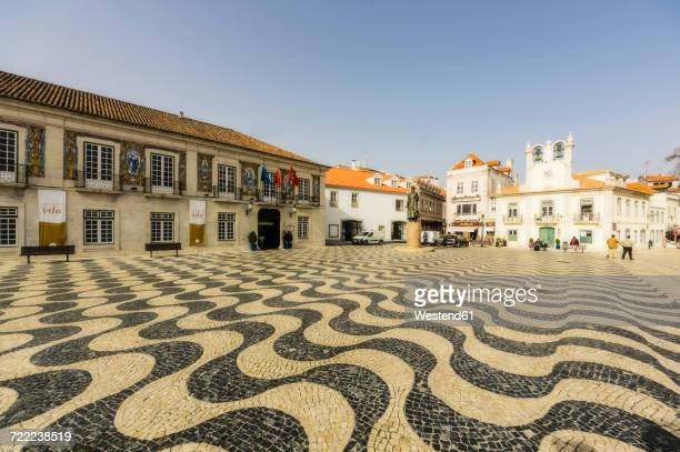portugal, cascais, town square - cascais stock photos and pictures