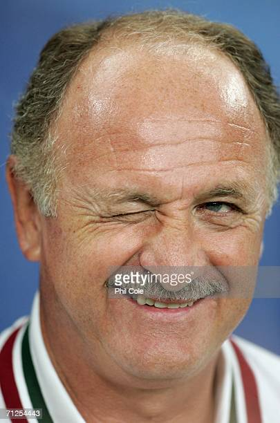 Portugal coach Luiz Felipe Scolari looks on prior to the FIFA World Cup Germany 2006 Group D match between Portugal and Mexico at the Stadium...
