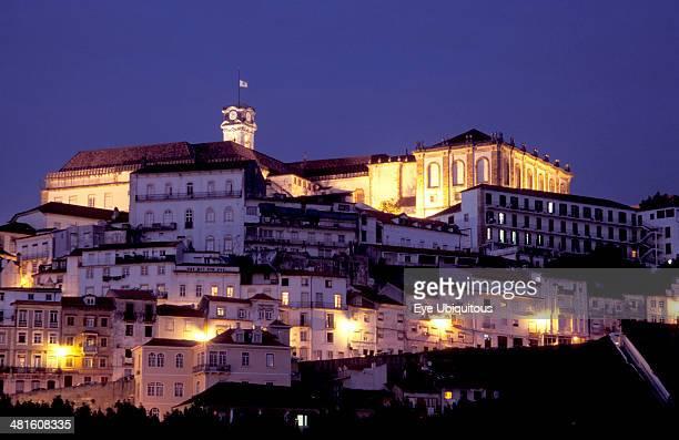 Portugal Coimbra University at dusk