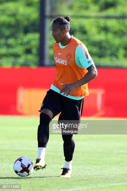 Portugal defender Bruno Alves during Portugal Training Session and Press Conference the at Cidade do Futebol on October 04 2017 in Lisbon Portugal