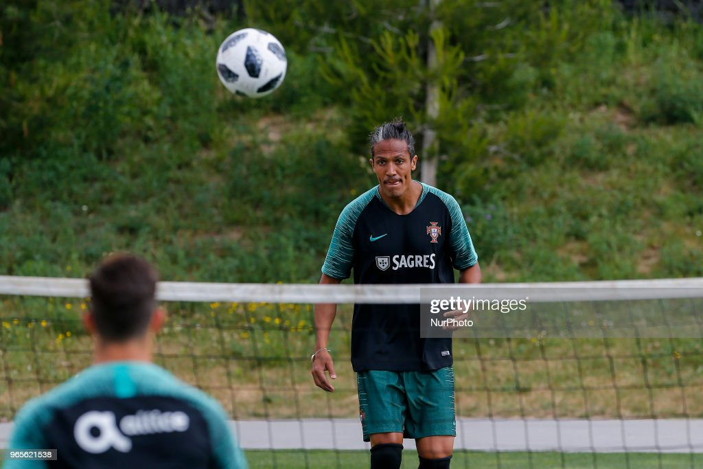 Portugal defender Bruno Alves during the training session at Cidade do Futebol training camp in Oeiras, outskirts of Lisbon, on May 31, 2018 ahead of the friendly football match against Belgium on June 2.