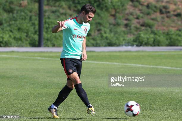 Portugal defender Cedric Soares in action during National Team Training session before the match between Portugal and Andorra at City Football in...
