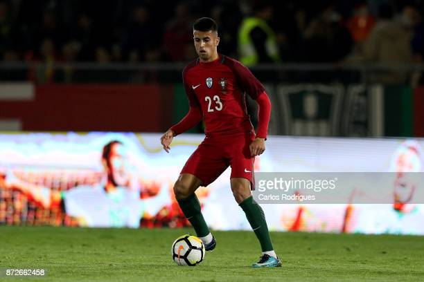 Portugal defender Joao Cancelo during the match between Portugal and Saudi Arabia InternationalFriendly at Estadio do Fontelo on November 10 2017 in...