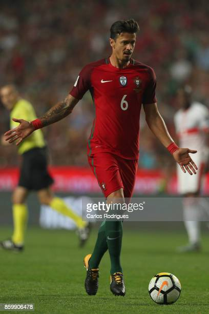 Portugal defender Jose Fonte during the match between Portugal and Switzerland for FIFA 2018 World Cup Qualifier at Estadio da Luz on October 10 2017...
