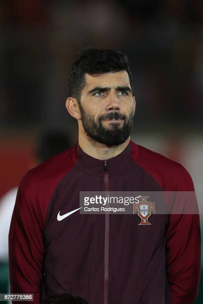 Portugal defender Luis Neto during the match between Portugal and Saudi Arabia InternationalFriendly at Estadio do Fontelo on November 10 2017 in...