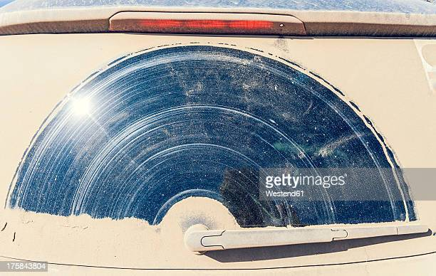 portugal, dirty window of car - windshield wiper stock photos and pictures