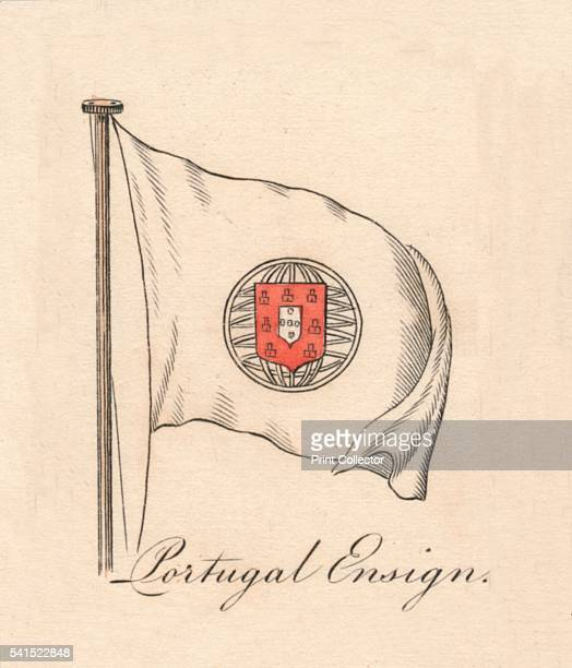 Portugal Ensign' 1838 From A Display of the Naval Flags of All Nations Collected from the Best Authorities [Fisher Son Co London 1838] Artist Unknown
