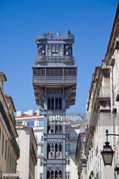 Portugal Estredmadura Lisbon Baixa Elevador Santa Justa