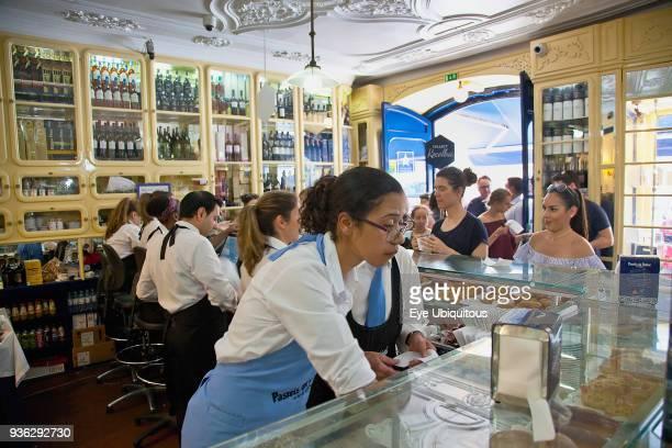 Portugal Estredmadura Lisbon Belem Pasteis de Belem cafe famous for its Pastel de Nata baked egg custard tarts
