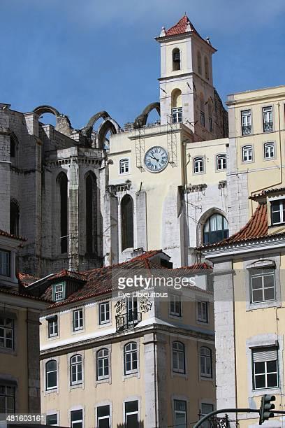 Portugal Estremadura Lisbon Carmo Convent ruins on hill above Rossio Square