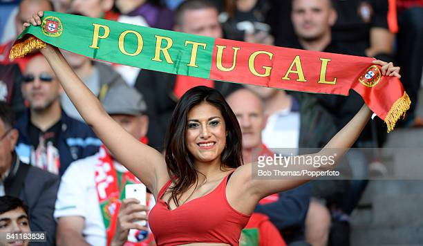 Portugal fan before the UEFA EURO 2016 Group F match between Portugal and Austria at Parc des Princes on June 18 2016 in Paris France The match ended...