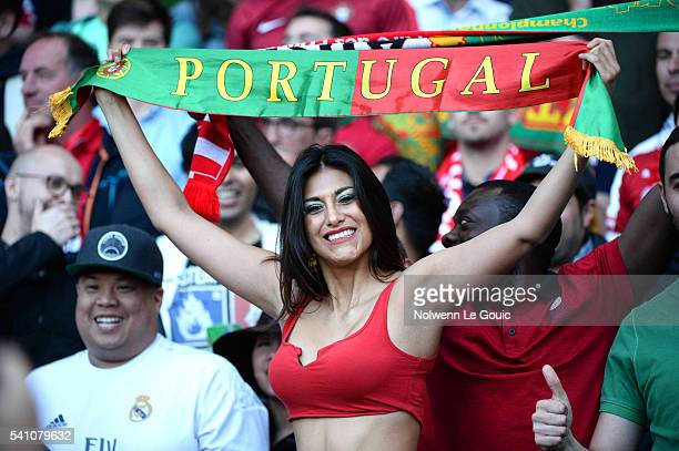 Portugal fans during the UEFA EURO 2016 Group F match between Portugal and Austria at Parc des Princes on June 18 2016 in Paris France