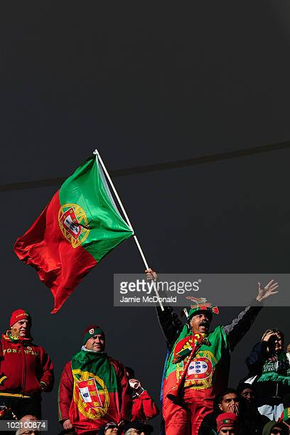 Portugal fans enjoy the atmosphere ahead of the 2010 FIFA World Cup South Africa Group G match between Ivory Coast and Portugal at Nelson Mandela Bay...
