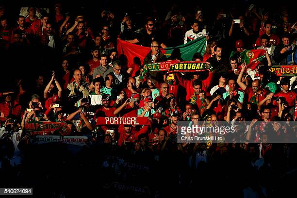 Portugal fans look on during the UEFA Euro 2016 Group F match between Portugal and Iceland at Stade GeoffroyGuichard on June 14 2016 in SaintEtienne...
