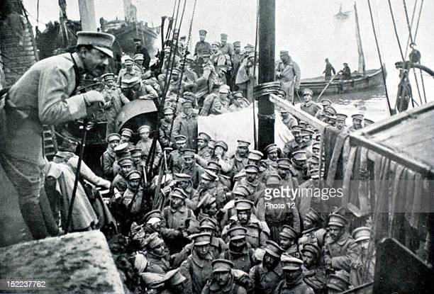 Portugal February 1917 World War I Portuguese contingents leaving for France embarkation of the first troops in Lisbon