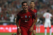 portugal forward andre silva celebrating after