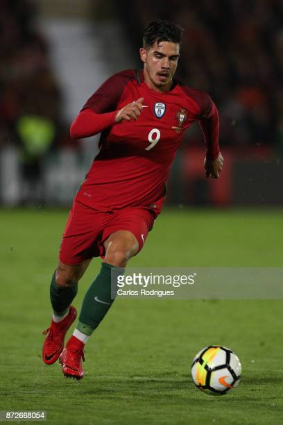 Portugal forward Andre Silva during the match between Portugal and Saudi Arabia InternationalFriendly at Estadio do Fontelo on November 10 2017 in...