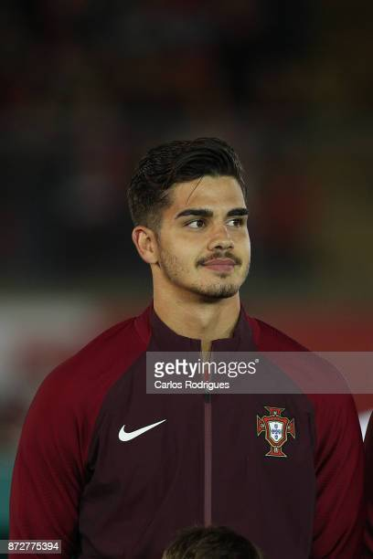 Portugal forward Andre Silva during the match between Portugal and Saudi Arabia InternationalFriendly at Estadio do Fontelo on November 10 2017 in...