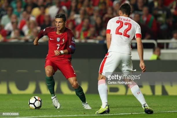 Portugal forward Cristiano Ronaldo during the match between Portugal and Switzerland for FIFA 2018 World Cup Qualifier at Estadio da Luz on October...