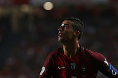 portugal forward cristiano ronaldo during match