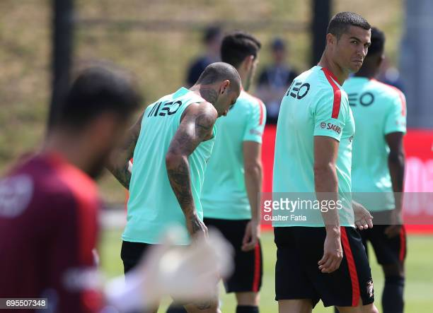Portugal forward Cristiano Ronaldo during the Portugal's National Team Training session before the 2017 FIFA Confederations Cup matches at FPF Cidade...