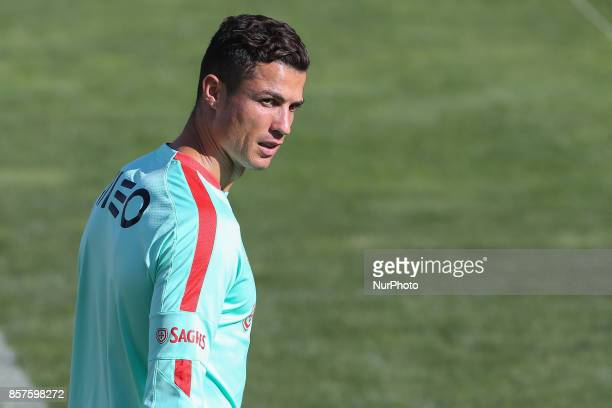 Portugal forward Cristiano Ronaldo in during National Team Training session before the match between Portugal and Andorra at City Football in Oeiras...