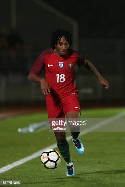Portugal forward Gelson Martins during the match between Portugal v Saudi Arabia International Friendly at Estadio do Fontelo on November 10 2017 in...