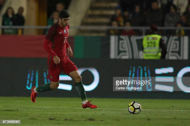 Portugal forward Goncalo Guedes during the match between Portugal and Saudi Arabia InternationalFriendly at Estadio do Fontelo on November 10 2017 in...
