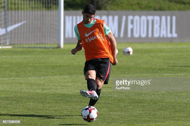 Portugal forward Goncalo Guedes in action during National Team Training session before the match between Portugal and Andorra at City Football in...