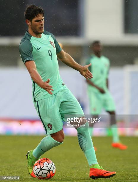 Portugal forward Goncalo Paciencia in action during the U21 International Friendly match between Portugal and Norway at Estadio Antonio Coimbra da...