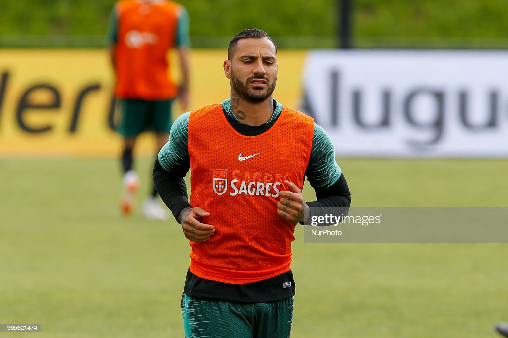 Portugal forward Ricardo Quaresma during the training session at Cidade do Futebol training camp in Oeiras, outskirts of Lisbon, on May 31, 2018 ahead of the friendly football match against Belgium on June 2.