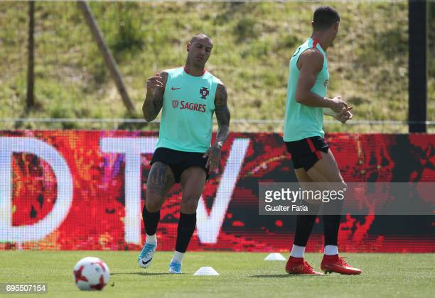 Portugal forward Ricardo Quaresma in action during the Portugal's National Team Training session before the 2017 FIFA Confederations Cup matches at...