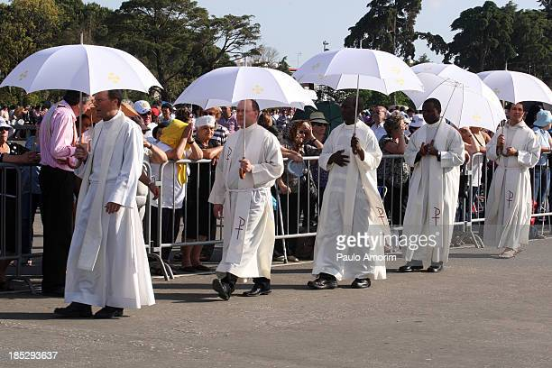 Fatima's pilgrims walking at Fatima Santuary on 12 May 2011 where three shepherd children reported seeing visions of the Virgin Mary in 1917 PHOTO