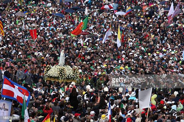 Fatima's Sanctuary on May 13 2010 Half a million pilgrims are attending a giant openair mass with Pope Benedict XVI in Fatima a greater number than...