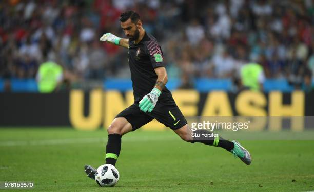 Portugal goalkeeper Rui Patricio in action during the 2018 FIFA World Cup Russia group B match between Portugal and Spain at Fisht Stadium on June 15...