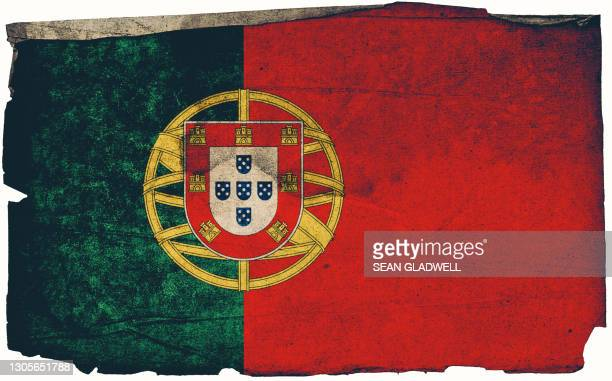 portugal grunge flag poster - traditionally portuguese stock pictures, royalty-free photos & images