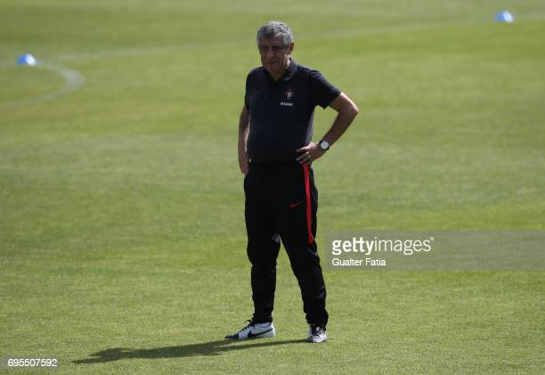 Portugal head coach Fernando Santos during Portugal's National Team Training session before the 2017 FIFA Confederations Cup matches at FPF Cidade do...