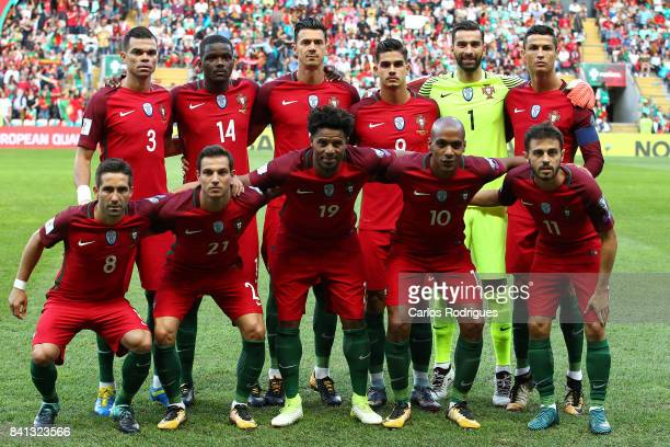 Portugal Inicial team during the match between Portugal v Faroe Islands FIFA 2018 World Cup Qualifier match at Estadio do Bessa on August 31 2017 in...