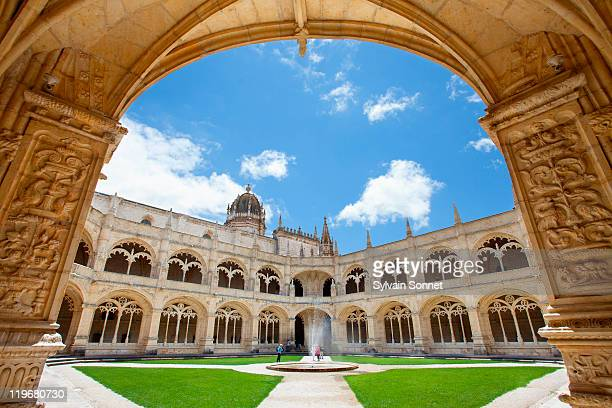 portugal, jeronimos monastery at belem in lisbon - monastery stock pictures, royalty-free photos & images