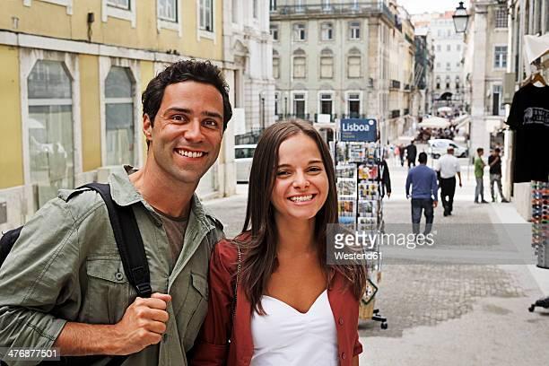 Portugal, Lisboa, Baixa, Rossio, portrait of young couple