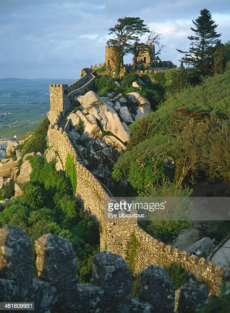 Portugal, Lisboa, Sintra, Castelo dos Mouros, Fortifications of Moorish castle