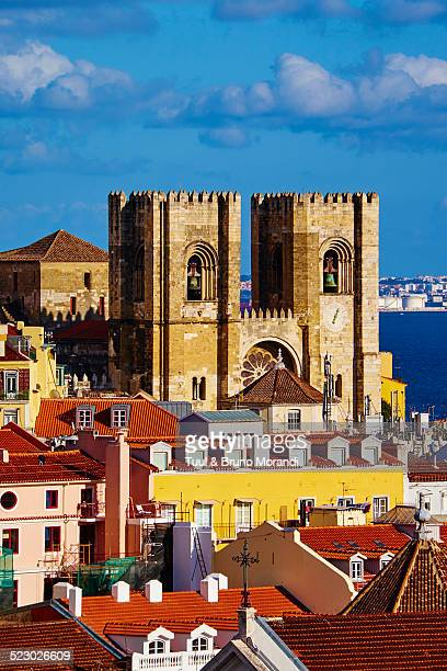 portugal, lisbon, alfama and san cathedral - san bruno stock pictures, royalty-free photos & images