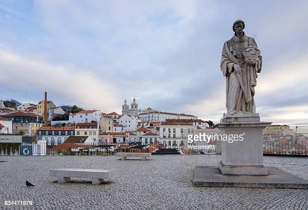 Portugal, Lisbon, Alfama district, Sculpture of San Vincente de Fora