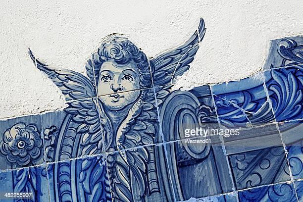 Portugal, Lisbon, Alfama, Miradouro de Santa Luzia, azulejos